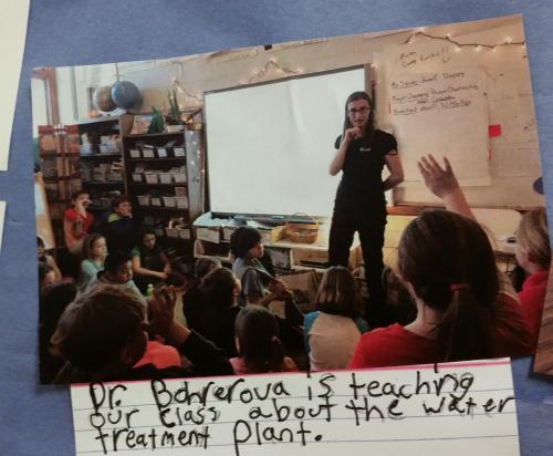 Dr. Bohrerova teaching in K-12 setting