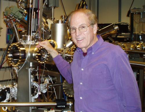 Len Brillson in his MBE laboratory